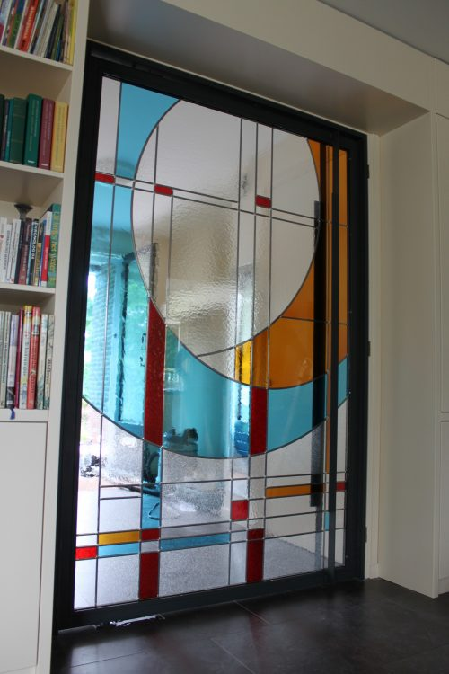 Moderne Glas In Lood Deuren.Modern Hedendaags Artglas