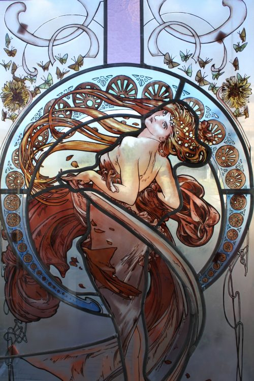 Mucha stained