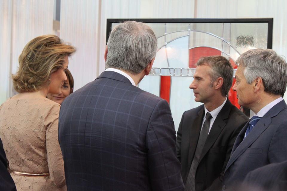 Koningin Mathilde op bezoek.